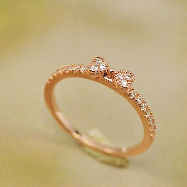 指輪 リング K18 大人の指先に遊び心と優美さをアピールしてくれる/リボンリング/ハーフエタニティリング/ピンキー/指輪|jewelrysanmi|06