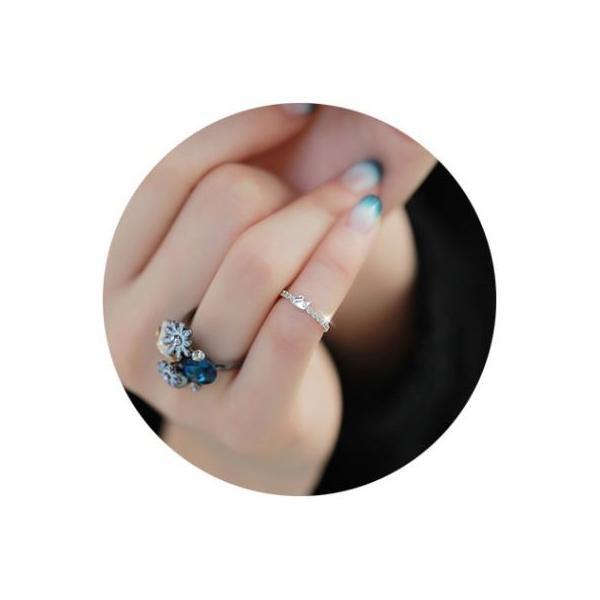 指輪 リング K18 愛される白鳥デザインをキュートにアレンジ/繊細なSWAROVSKI ハーフエタニティリング/K18RGP指輪|jewelrysanmi|04