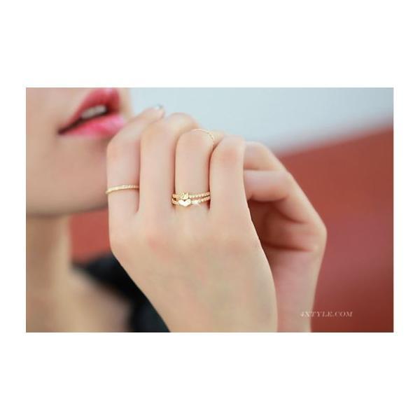 指輪 リング K18 愛される白鳥デザインをキュートにアレンジ/繊細なSWAROVSKI ハーフエタニティリング/K18RGP指輪|jewelrysanmi|06