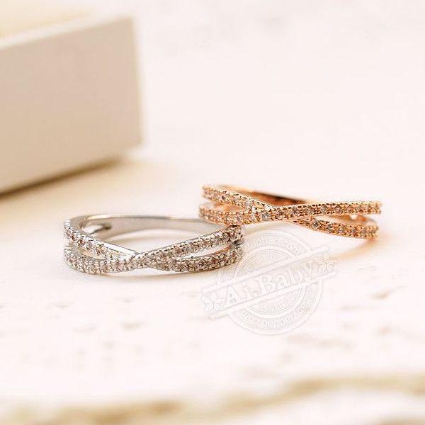 指輪 リング ピンキーリング スワロフスキー SWAROVSKI クロス エタニティ あすつく 大きいサイズ レディースアクセサリー|jewelrysanmi|02
