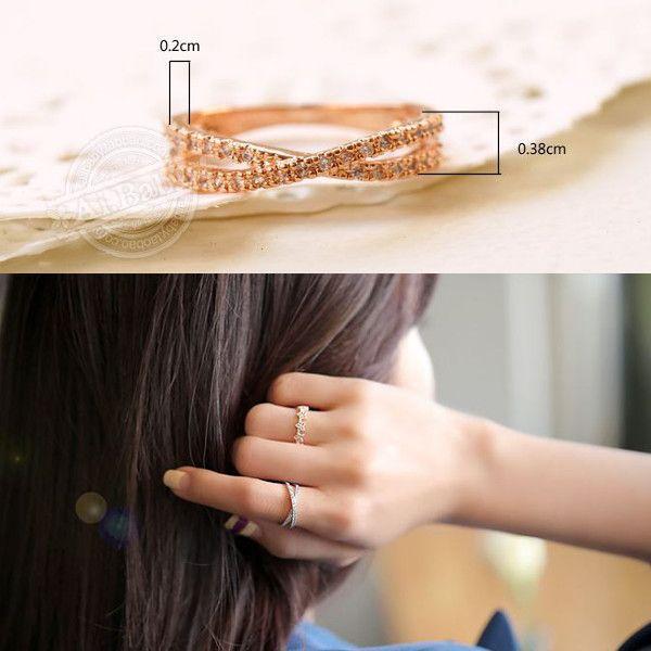 指輪 リング ピンキーリング スワロフスキー SWAROVSKI クロス エタニティ あすつく 大きいサイズ レディースアクセサリー|jewelrysanmi|03