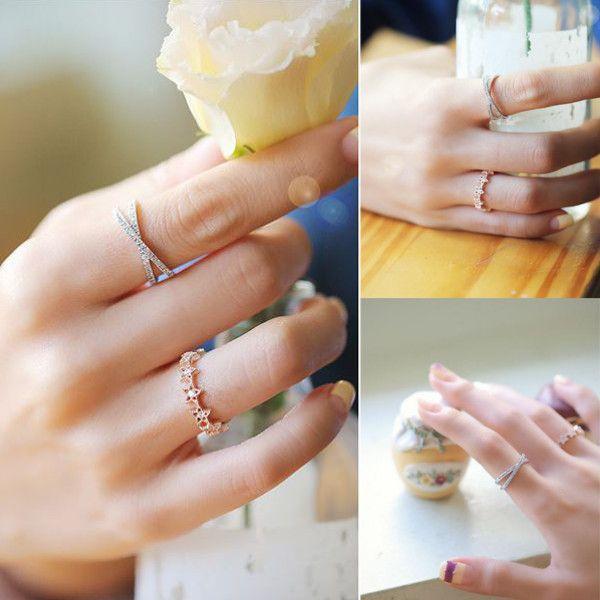 指輪 リング ピンキーリング スワロフスキー SWAROVSKI クロス エタニティ あすつく 大きいサイズ レディースアクセサリー|jewelrysanmi|06