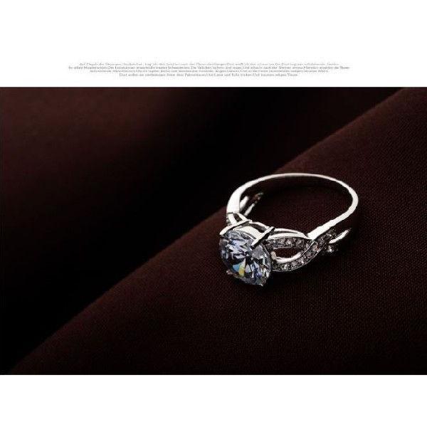 指輪 リング K18 煌きジュエリー 本物の輝き ダイヤモンドCZ彩石リング ホワイトゴールドK18RGP jewelrysanmi 03