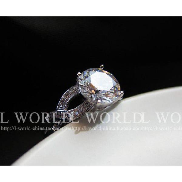 指輪 リング K18 煌きジュエリー 本物の輝き ダイヤモンドCZ彩石リング ホワイトゴールドK18RGP jewelrysanmi 04