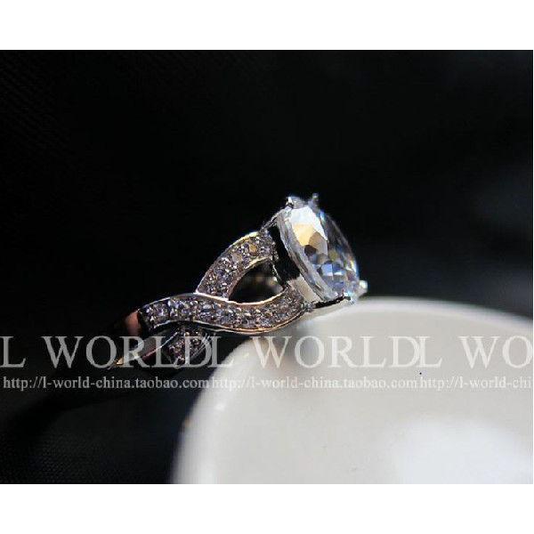 指輪 リング K18 煌きジュエリー 本物の輝き ダイヤモンドCZ彩石リング ホワイトゴールドK18RGP jewelrysanmi 05