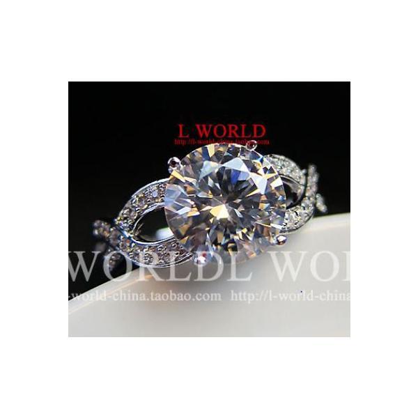 指輪 リング K18 煌きジュエリー 本物の輝き ダイヤモンドCZ彩石リング ホワイトゴールドK18RGP jewelrysanmi 06