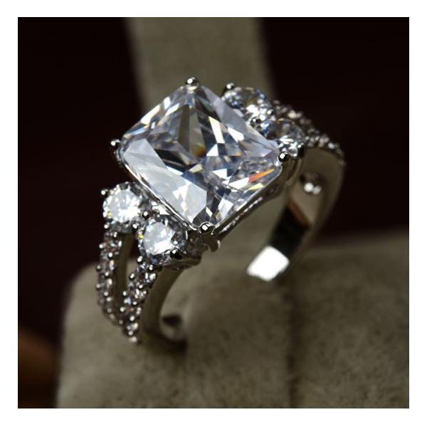 指輪 リング K18 指先で誇らしく輝く華やかに/豪華1.5ctSWAROVSKI彩石リングK18RGP|jewelrysanmi|02