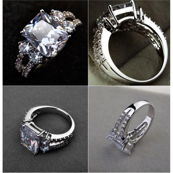 指輪 リング K18 指先で誇らしく輝く華やかに/豪華1.5ctSWAROVSKI彩石リングK18RGP|jewelrysanmi|03
