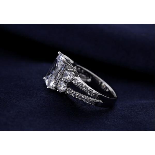 指輪 リング K18 指先で誇らしく輝く華やかに/豪華1.5ctSWAROVSKI彩石リングK18RGP|jewelrysanmi|04