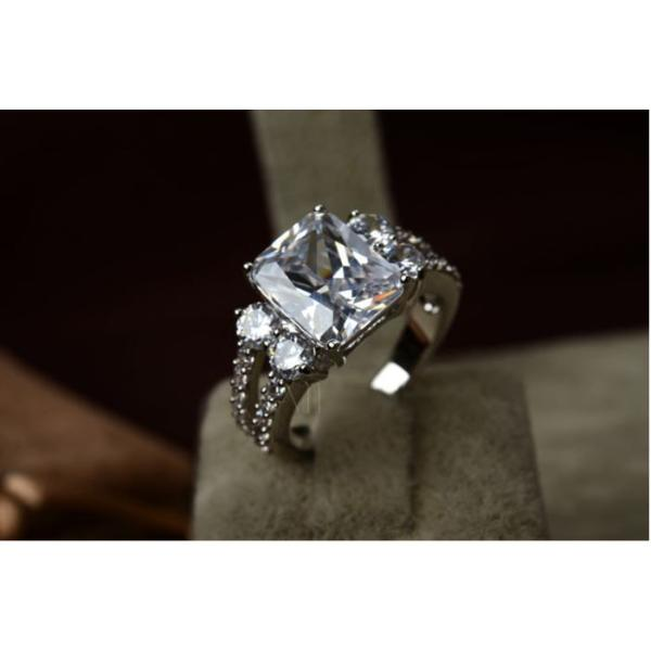 指輪 リング K18 指先で誇らしく輝く華やかに/豪華1.5ctSWAROVSKI彩石リングK18RGP|jewelrysanmi|05