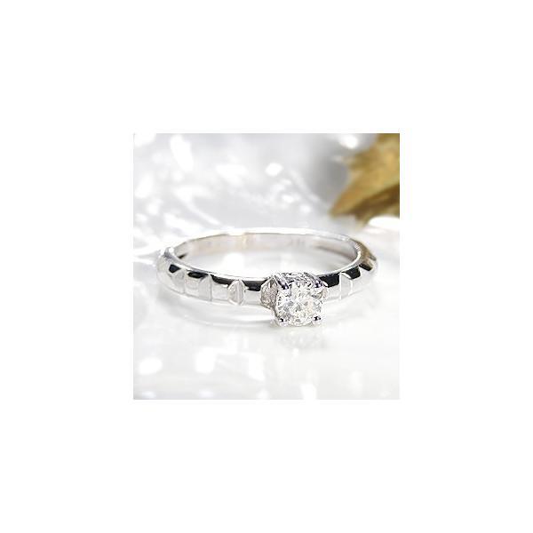 K18WG ゴールド リング 指輪 ダイヤモンド ダイヤ SIクラスIJカラー 大粒 一粒 4月 誕生石 0.3ctUP RMR0507
