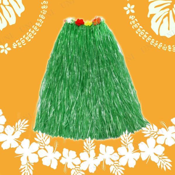 Patymo ハワイアンスカート ロング グリーン 仮装 コスプレ ハロウィン コスチューム 大人 女性 民族衣装|jewelworld