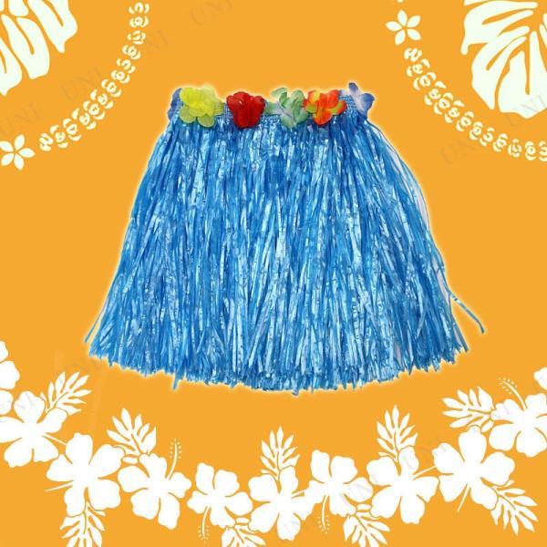 Patymo ハワイアンスカート ショート ブルー コスプレ 衣装 ハロウィン 仮装 大人 フラダンス スカート|jewelworld