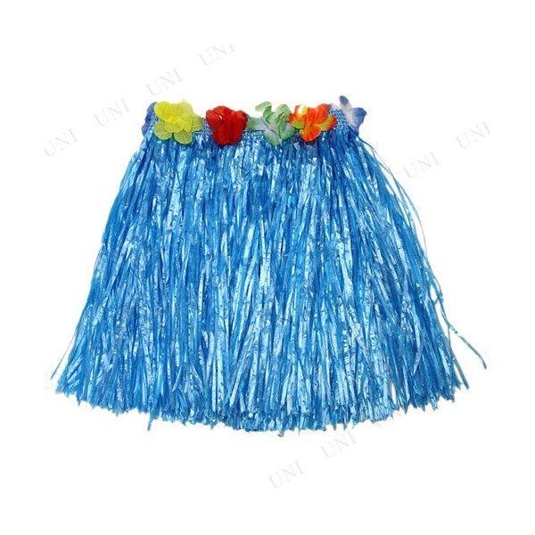 Patymo ハワイアンスカート ショート ブルー コスプレ 衣装 ハロウィン 仮装 大人 フラダンス スカート|jewelworld|02