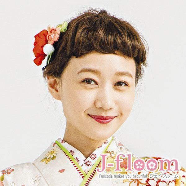 成人式 振袖 髪飾り ちりめん丸花 クリップ|jfloom|07