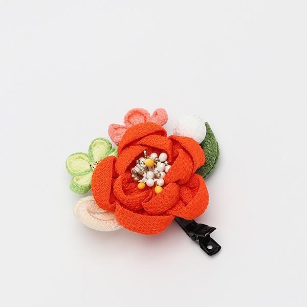 成人式 振袖 髪飾り ちりめん丸花 クリップ|jfloom|10