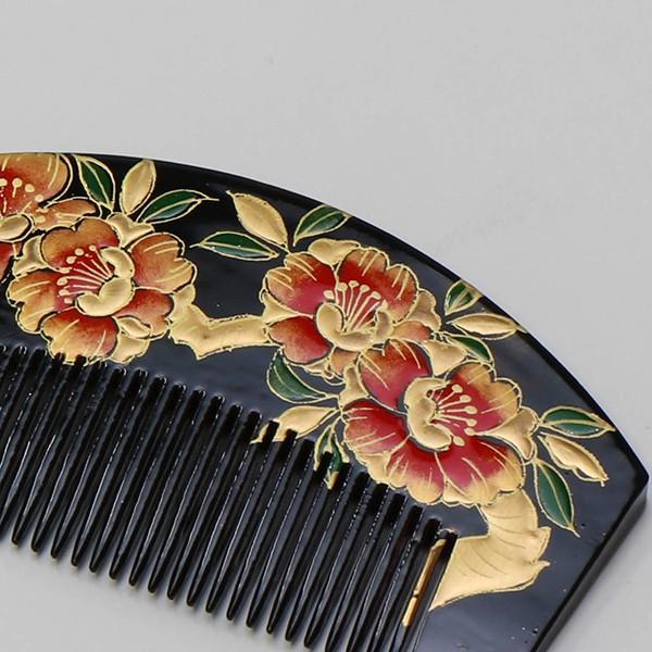 振袖  成人式 櫛かんざし 黒・花柄|jfloom|02