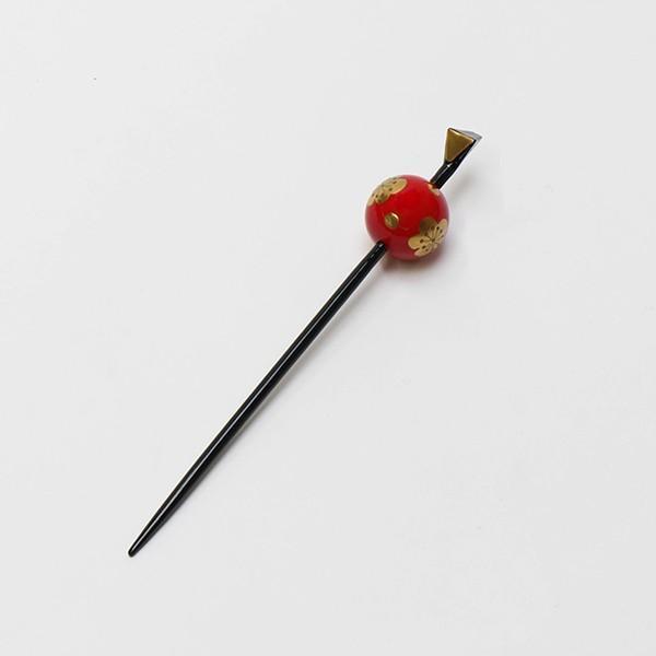 振袖  成人式 かんざし 赤・ゴールド 桜柄|jfloom