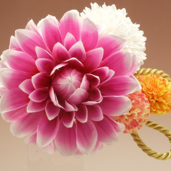 成人式 髪飾り 振袖 髪飾り ダリア 水連咲き ピンク Scawaii! Ray mina 掲載商品|jfloom|04