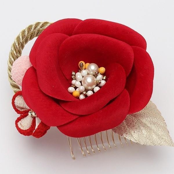 成人式 振袖 髪飾り 椿 レトロ 赤 KimonoWalker Scawaii Ray minaカタログ掲載商品 jfloom 05
