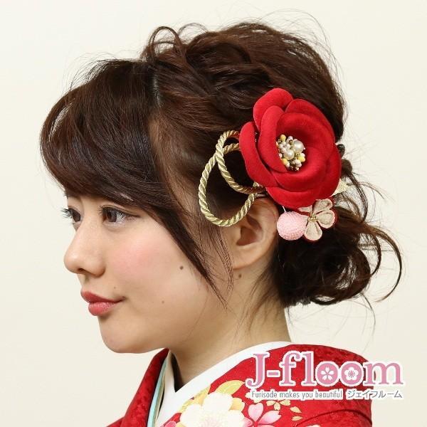 成人式 振袖 髪飾り 椿 レトロ 赤 KimonoWalker Scawaii Ray minaカタログ掲載商品 jfloom 06