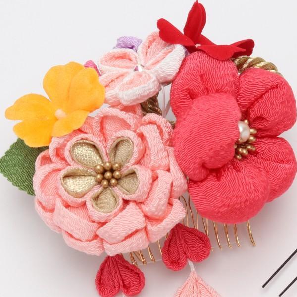 振袖 髪飾り 成人式 小菊 ぷっくりちりめん ピンク|jfloom|04