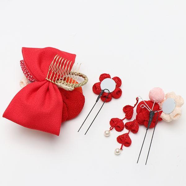 振袖 髪飾り 成人式 髪飾り 椿 レトロリボン 赤 jfloom 03