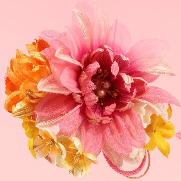 成人式 髪飾り 振袖髪飾り フラワー カラフル ピンク Scawaii! Ray mina カタログ掲載商品|jfloom|03