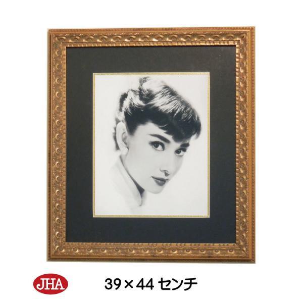 額絵 壁掛け JHAアンティークフレーム オードリー・ヘプバーン2(アンティーク・ゴールドフレーム)W387×H437 AA-O-2GO ポスター