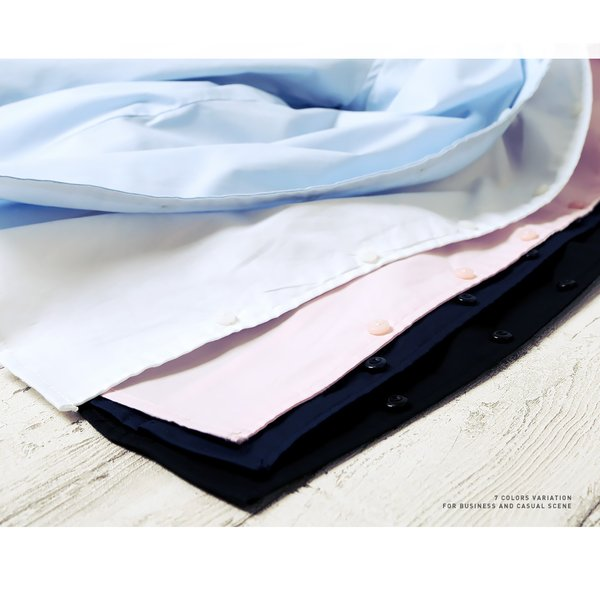 シャツ メンズ トップス 長袖シャツ カジュアルシャツ 無地 ストレッチ素材 春 春服 送料無料|jiggys-shop|03