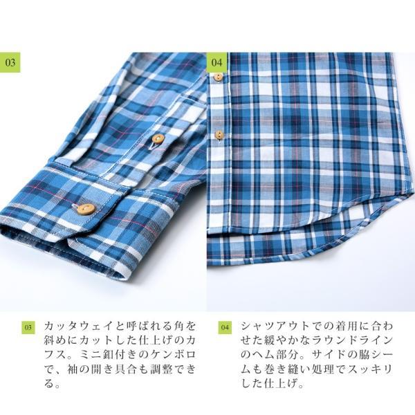 チェックシャツ メンズ トップス ウエスタンシャツ 長袖シャツ チェック柄 ロング丈 選べる2タイプ 春 春服 送料無料|jiggys-shop|13