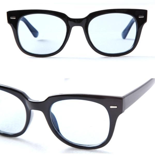 サングラス メンズ メガネ 眼鏡 アイウェア UVカット ケース付き 春 秋 冬 冬服 送料無料 / スクエアカラーレンズメガネ|jiggys-shop|05