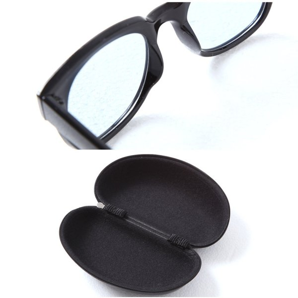 サングラス メンズ メガネ 眼鏡 アイウェア UVカット ケース付き 春 秋 冬 冬服 送料無料 / スクエアカラーレンズメガネ|jiggys-shop|06