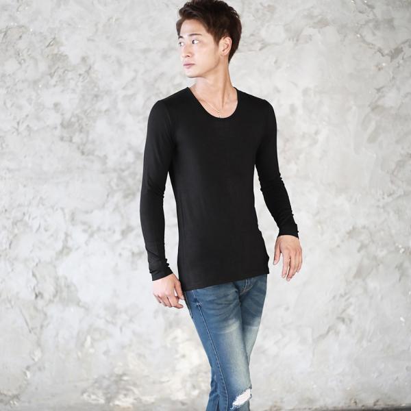 ロンT Tシャツ メンズ [タダ割対象 3点購入で1点タダ] 長袖 無地 あったかインナー ウォームビズ発熱 秋服 送料無料|jiggys-shop|04