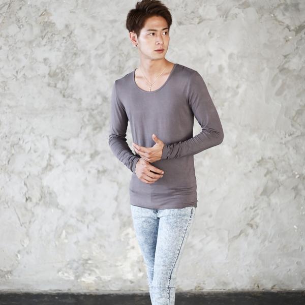 ロンT Tシャツ メンズ [タダ割対象 3点購入で1点タダ] 長袖 無地 あったかインナー ウォームビズ発熱 秋服 送料無料|jiggys-shop|06