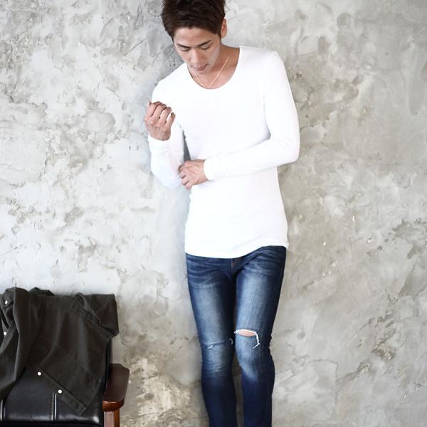 【タダ割 3枚購入で1枚無料】 ロンT Tシャツ メンズ トップス カットソー 防寒インナー 長袖 無地 あったかインナー ウォームビズ発熱 夏 夏服 送料無料|jiggys-shop|08