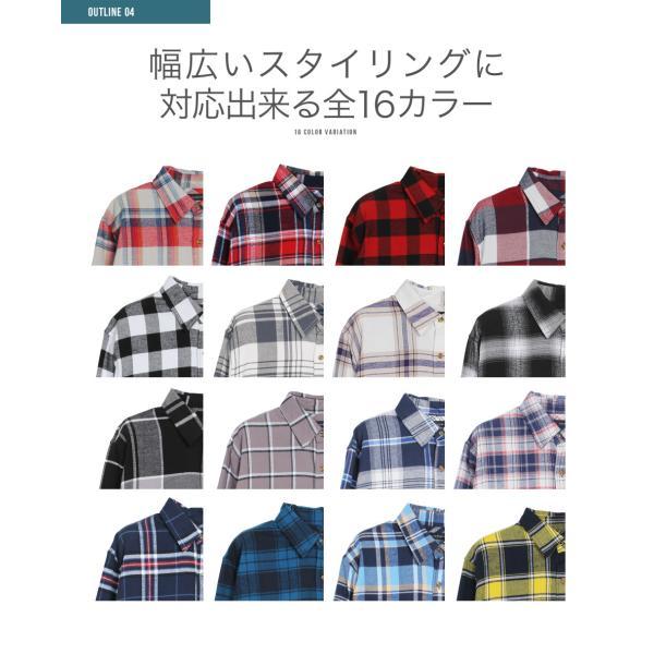 チェックシャツ メンズ ポイント10倍 長袖シャツ コットン ネルシャツ カジュアルシャツ オフィス 秋服 送料無料 jiggys-shop 05