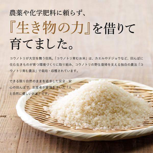無農薬 無洗米 無化学肥料 食べる健康!食べる貢献! コウノトリ育むお米 送料無料 無洗 5kg×2袋 10kg(無洗米)コシヒカリ 西日本 但馬産 特A|jigomeya|02