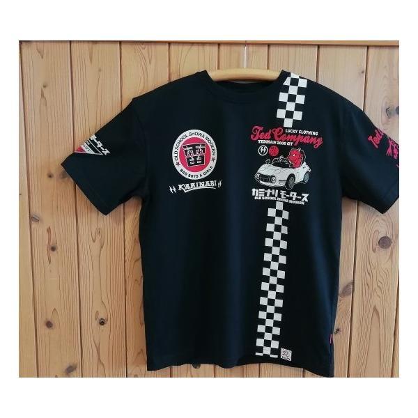 テッドマン×カミナリ半袖Tシャツ2000GT|jiima|02
