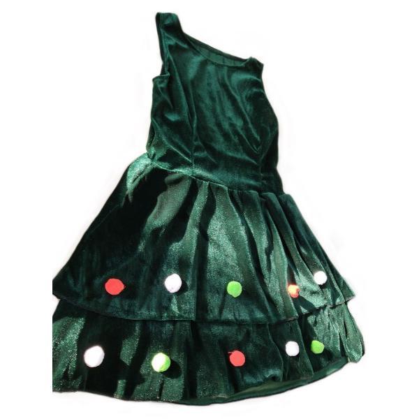 429b82e0d79ca ... クリスマスツリー コスプレ 帽子、ボレロ、ワンピ3点セット レディース(ツリーB  ...