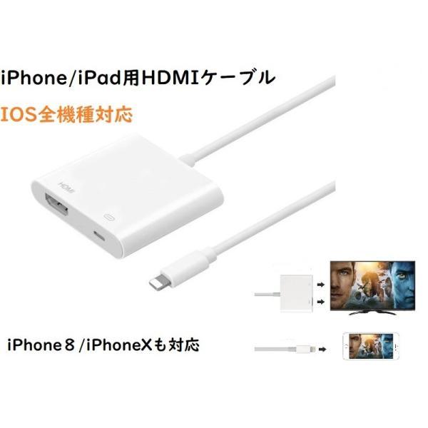 iPad/iPhone用HDMI変換ケーブル IOS全機種対応 テレビ モニター プロジェクター 大きい画面へ転換 変換ケーブル コンパクト jingyuan