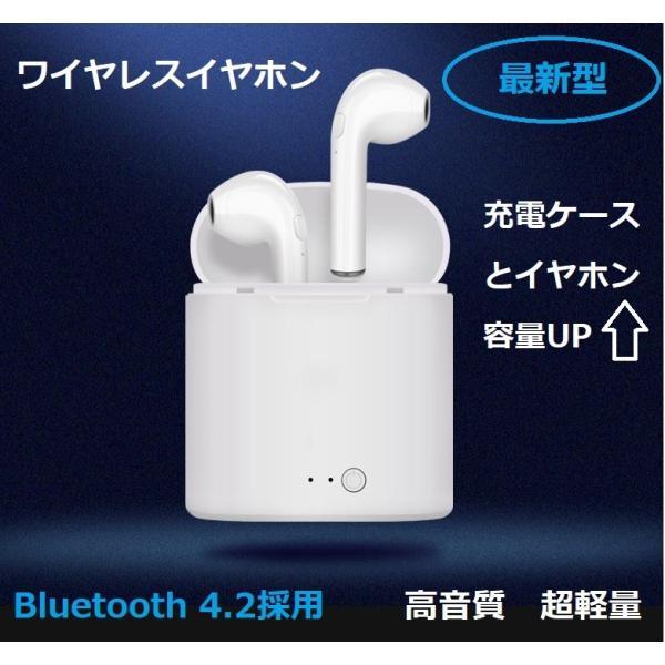 最新型 ワイヤレスイヤホン Bluetooth4.2  ブルートゥース イヤホン  iphoneシリーズ Android 対応 電池容量UP jingyuan 02