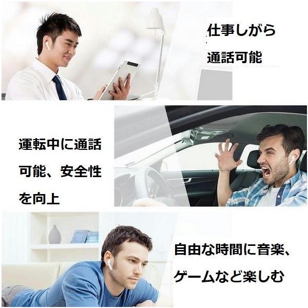 最新型 ワイヤレスイヤホン Bluetooth4.2  ブルートゥース イヤホン  iphoneシリーズ Android 対応 電池容量UP jingyuan 04