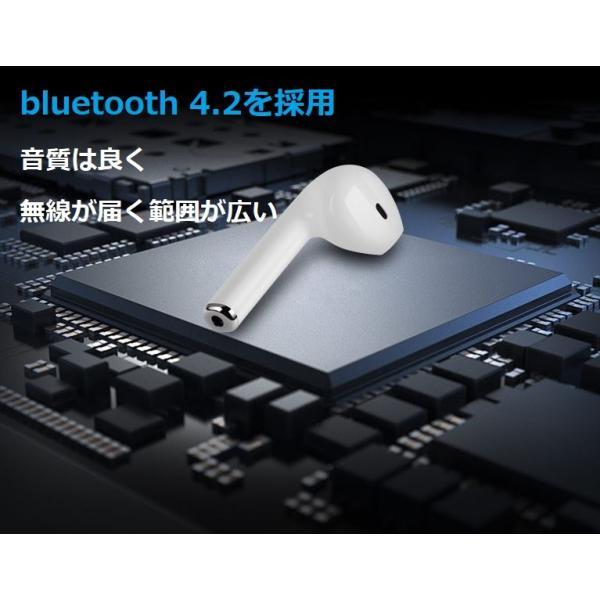 最新型 ワイヤレスイヤホン Bluetooth4.2  ブルートゥース イヤホン  iphoneシリーズ Android 対応 電池容量UP jingyuan 08