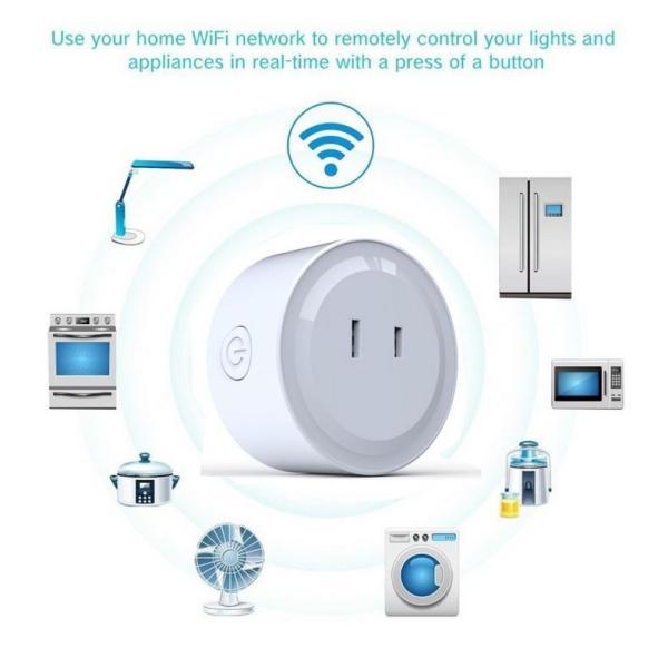 スマートプラグ  Wifi スマートコンセント  Alexa Echo Googleホーム IFTTT対応  スマホ遠隔操作 音声コントロール タイマー スケジュール管理|jingyuan