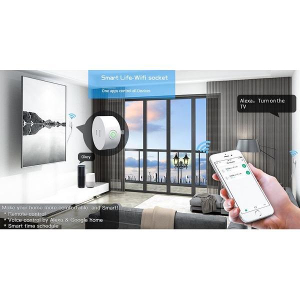 スマートプラグ  Wifi スマートコンセント  Alexa Echo Googleホーム IFTTT対応  スマホ遠隔操作 音声コントロール タイマー スケジュール管理|jingyuan|05