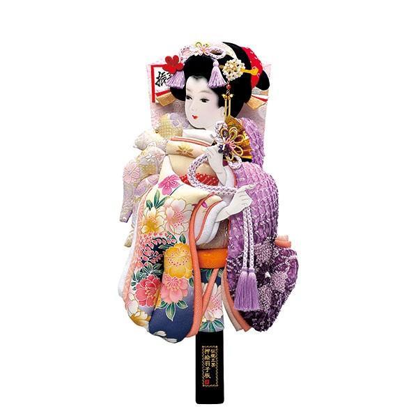 羽子板 単品 初正月 羽子板飾り 18号 ケース入り お祝い 正月飾り 手作り おしゃれ 友禅詩音 紫 jinya2-hina