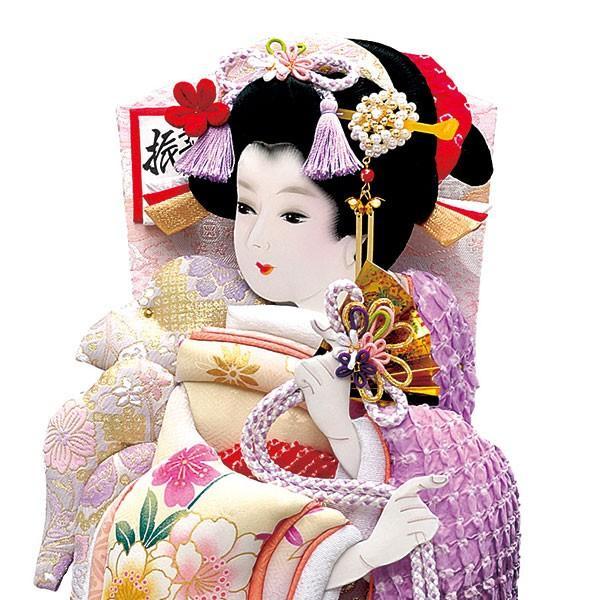 羽子板 単品 初正月 羽子板飾り 18号 ケース入り お祝い 正月飾り 手作り おしゃれ 友禅詩音 紫 jinya2-hina 03