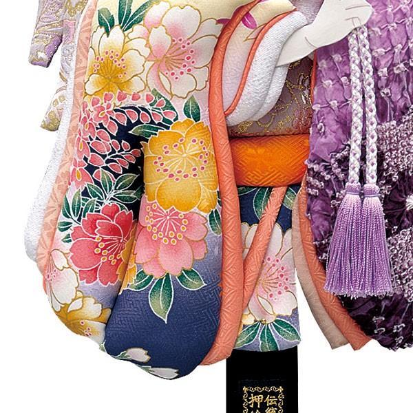 羽子板 単品 初正月 羽子板飾り 18号 ケース入り お祝い 正月飾り 手作り おしゃれ 友禅詩音 紫 jinya2-hina 04