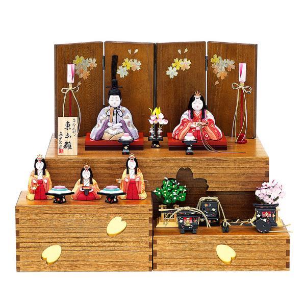 雛人形 真多呂 木目込み 高級 収納 モダン 古今段飾り東山雛官女付(B)コンパクト
